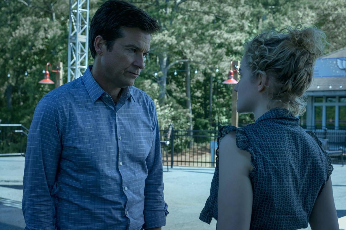 Jason Bateman as Marty Byrde and Julia Garner as Ruth Langmore in Episode 303 of OZARK Cr. Stev ...