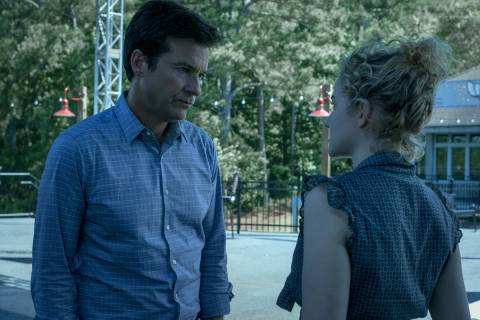 Jason Bateman as Marty Byrde and Julia Garner as Ruth Langmore in Episode 303 of OZARK Cr. Stev ...
