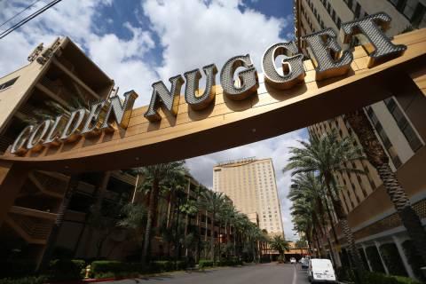 The Golden Nugget casino-hotel in Las Vegas, Thursday, March 19, 2020. (Erik Verduzco / Las Veg ...