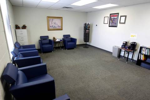 A waiting room at the Southern Nevada Family Justice Center at 861 N. Mojave Road in Las Vegas ...