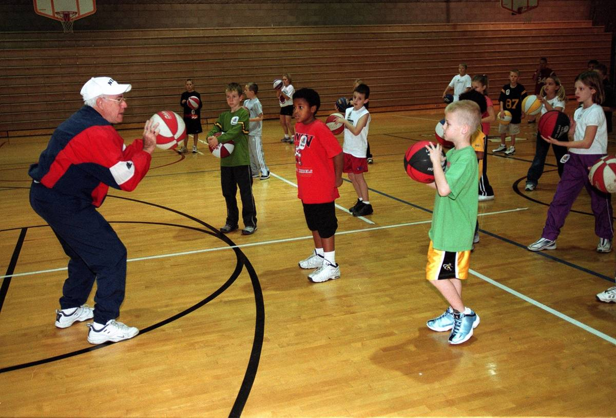 In this 2001 file photo, Howie Landa conducts a basketball camp at the White Middle School in H ...