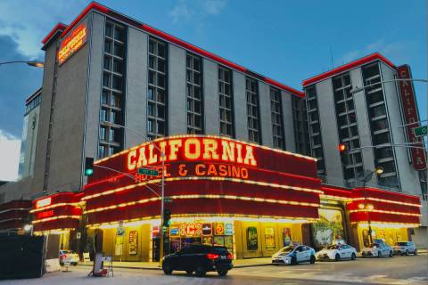 California hotel-casino operated by Boyd Gaming Corp. is seen on Saturday, March 14, 2020, in L ...