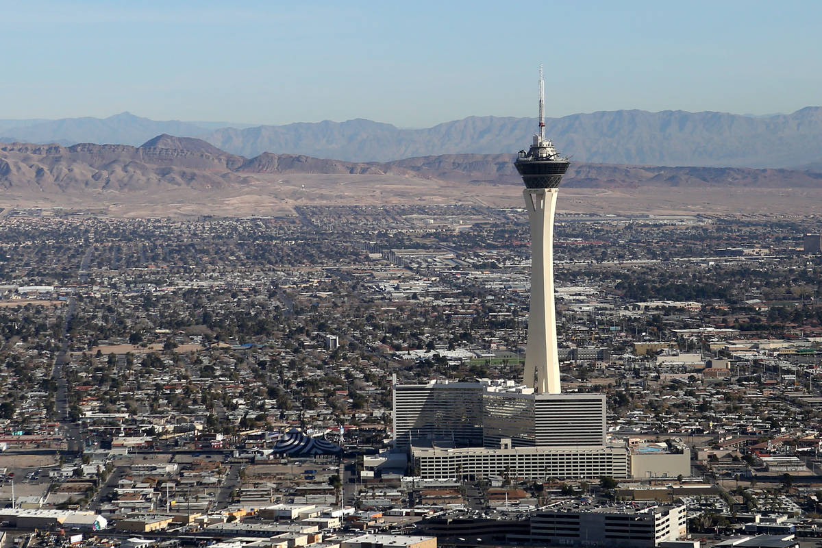 Isolated showers may fall mainly north and east of the Las Vegas Valley on Friday, March 20, 20 ...