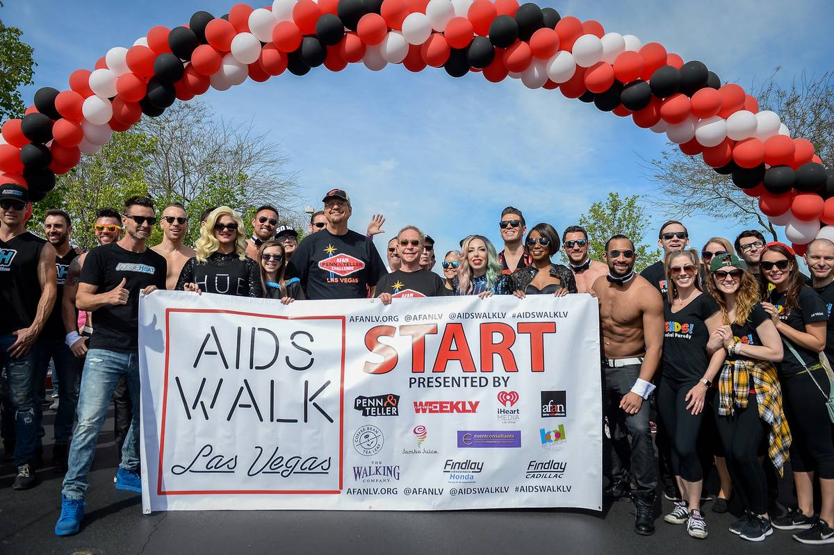 AFAN supporters at the 29th Annual AIDS Walk Las Vegas at Town Square in this April 7, 2019, fi ...
