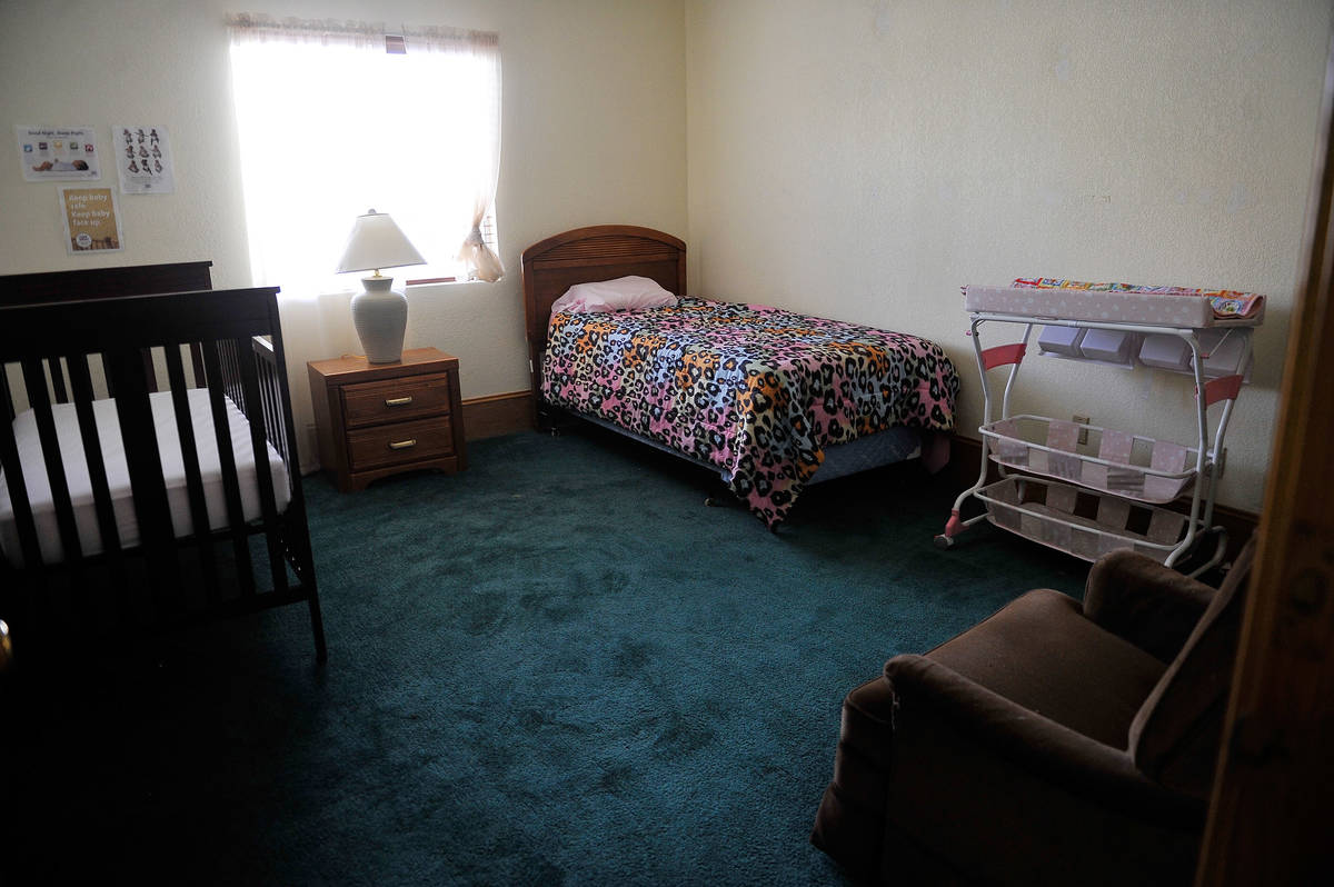 A view of one of the parenting teen rooms at the St. Jude's Ranch for Children in Boulder City ...