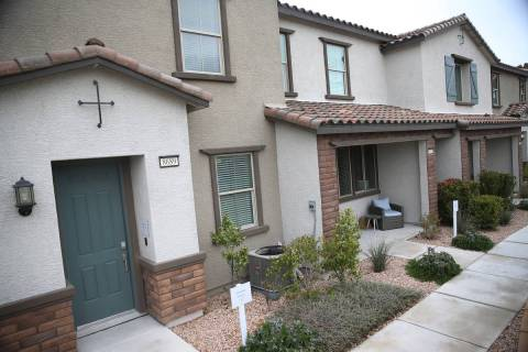 Model homes in the Lennar Madori Vista residential community in Las Vegas, Friday, March 13, 20 ...