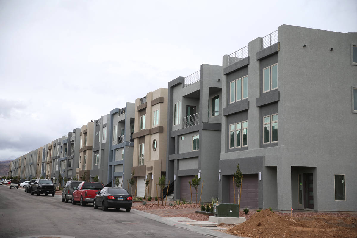 Homes in the American West Skyview Mesa residential community in Las Vegas, Friday, March 13, 2 ...