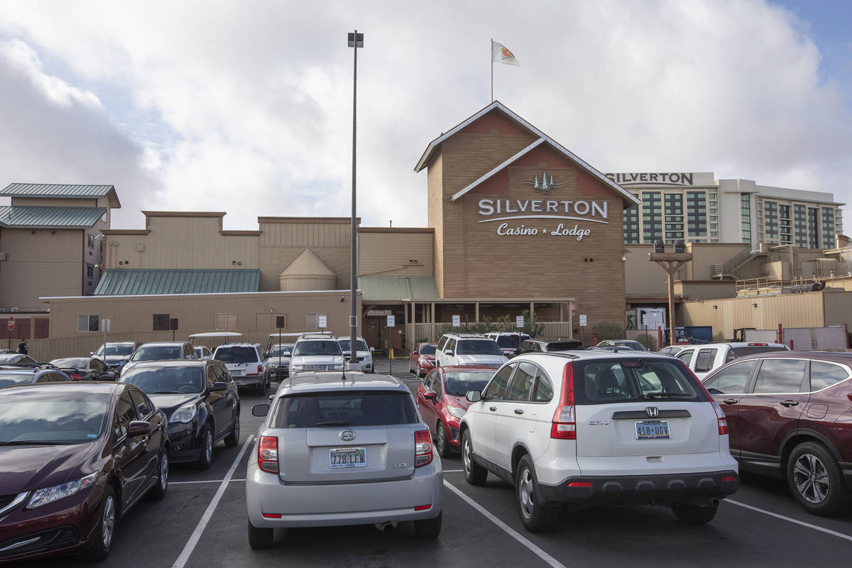 Silverton Casino as seen from the team member parking lot on Friday, March 20, 2020, in Las Veg ...