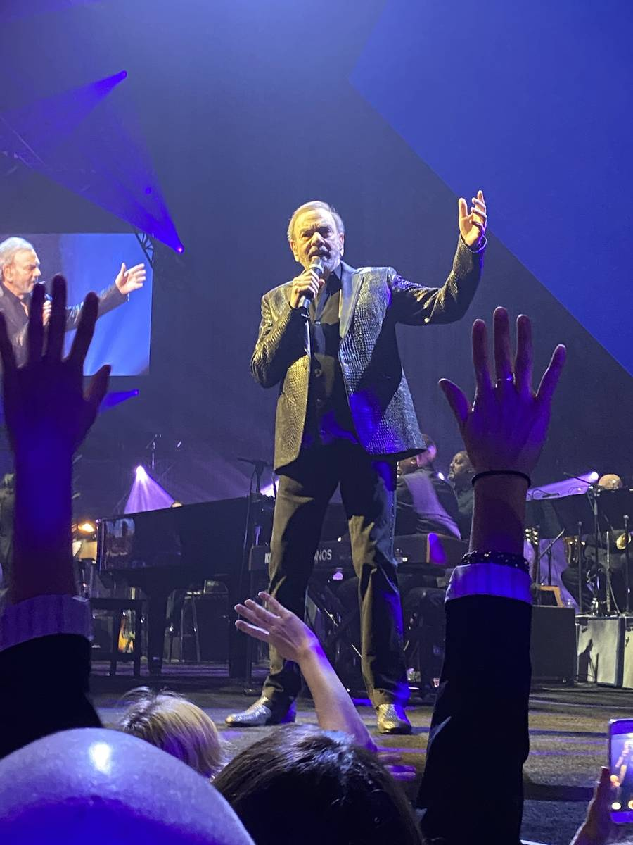 Neil Diamond performs during the 24th annual Keep Memory Alive Power of Love gala at MGM Grand ...