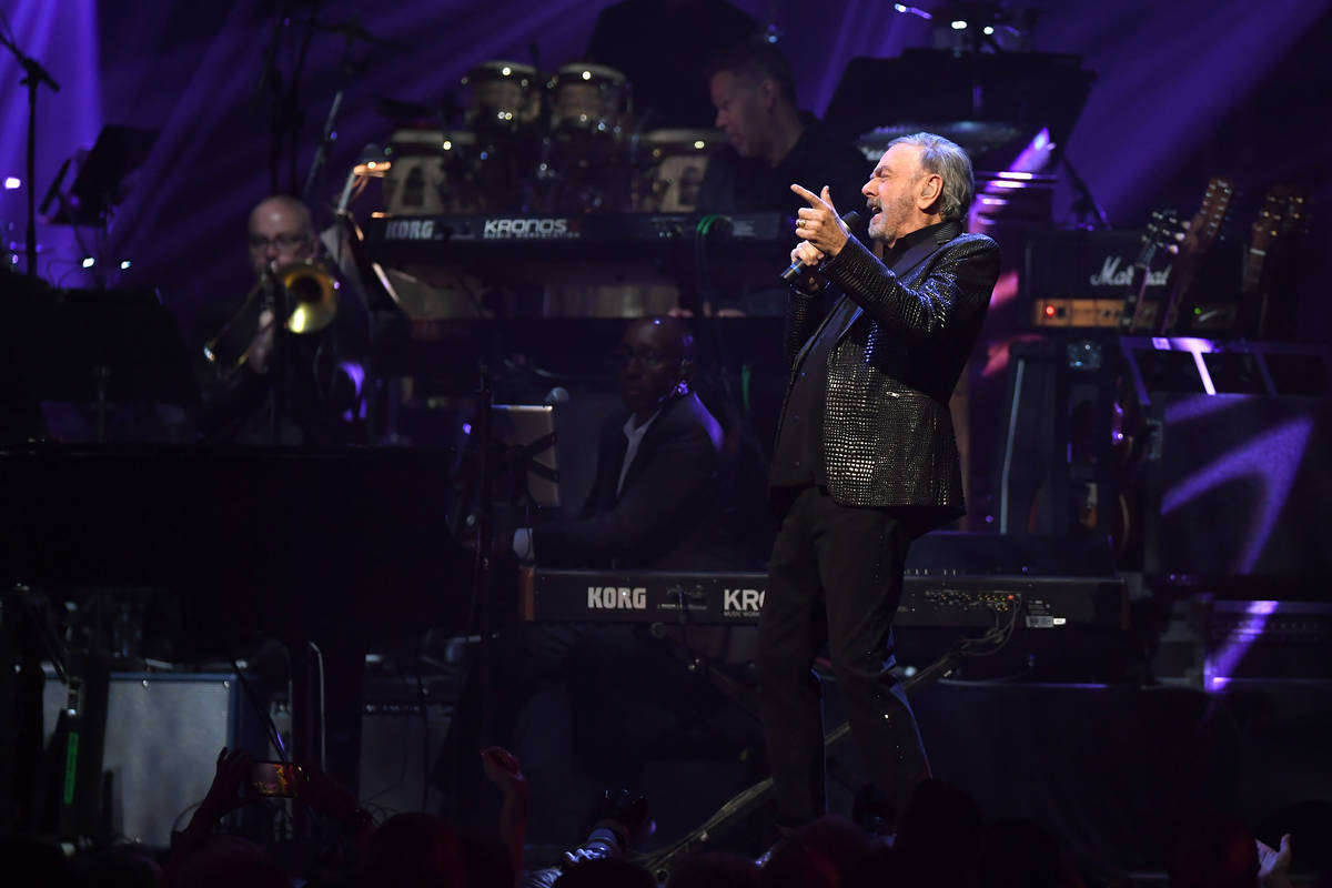 "Neil Diamond performs onstage at the 24th annual Keep Memory Alive ""Power of Love Gala"" benefit ..."