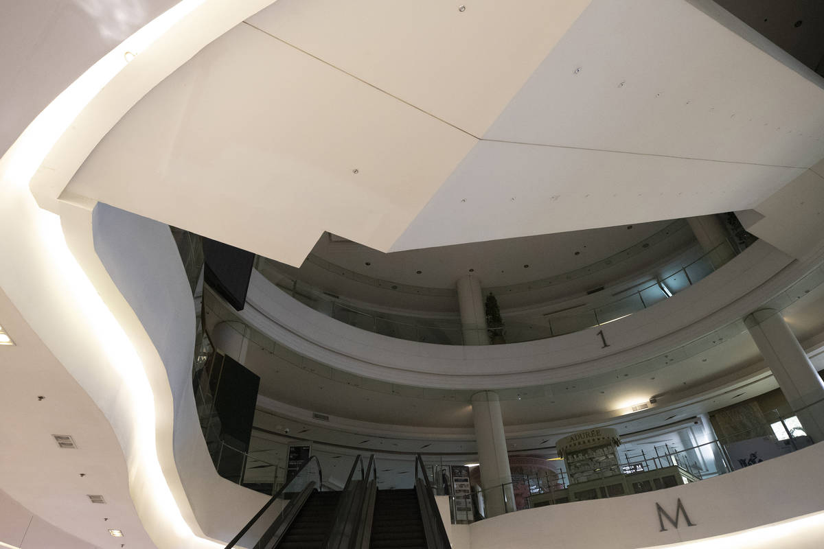 A shopping mall is empty in Bangkok, Thailand, Monday, March 23, 2020. The governor of the Thai ...
