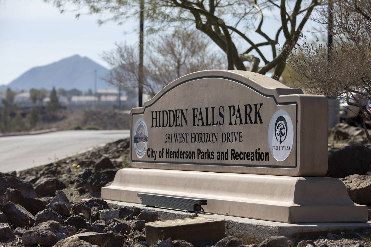 Construction for a new fire station and dog park takes place at Hidden Hills Park on Thursday, ...