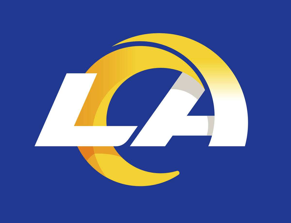 This graphic provided by the Los Angeles Rams shows a new stylized LA Rams logo, released by th ...