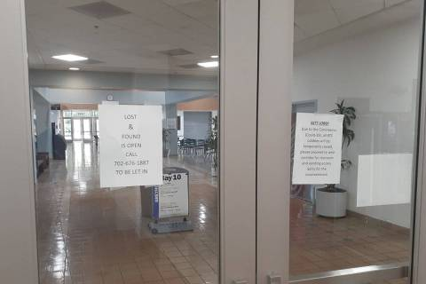 The lobby is closed Monday, March 23, 2020, at the RTC's South Strip Transit Terminal, 6501-653 ...