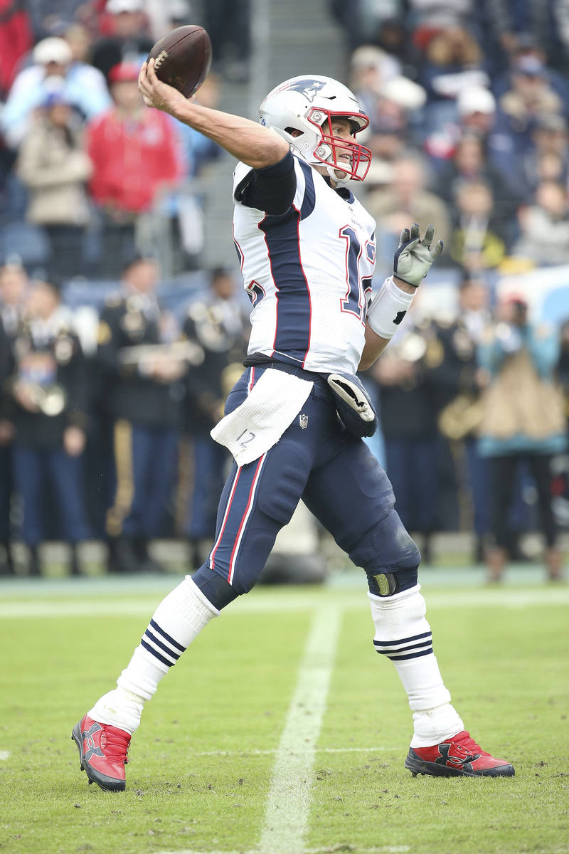 New England Patriots quarterback Tom Brady #12 during an NFL football game between the New Engl ...