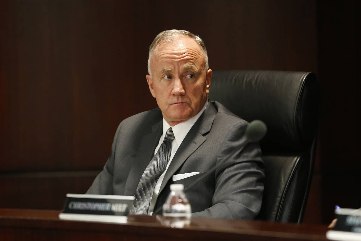 Bob Bennett, executive director of the Nevada Athletic Commission, during a Nevada Athletic Com ...