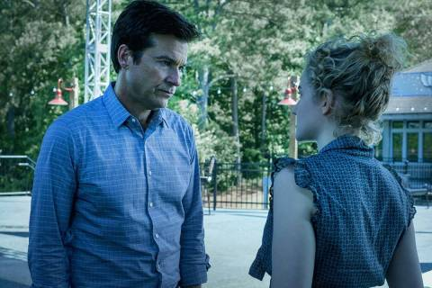 "Jason Bateman and Julia Garner in the drama series ""Ozark,"" which returns this weeken ..."