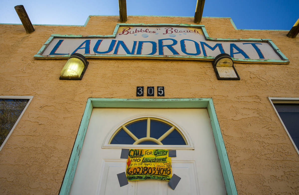 The Bubbles 'n Bleach Laundromat is only open by appointment to keep the threat of coronavirus ...