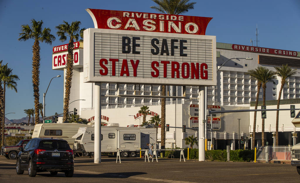 All casinos including the Riverside display messages of hope and support for those affected by ...
