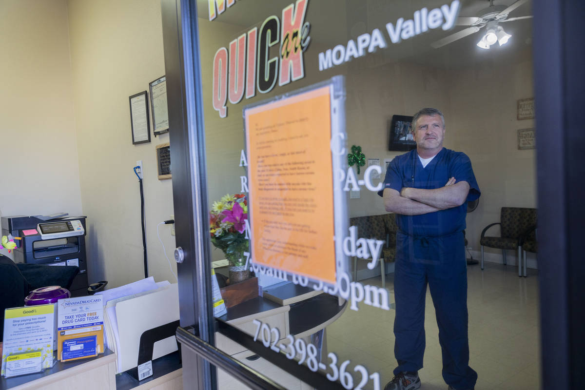 Quick Care Moapa Valley physician assistant Andrew Rose discusses the change in care at the cli ...