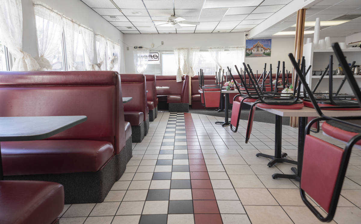 Thai House Restaurant is seen vacated in Mesquite on Tuesday, March 24, 2020. The restaurant is ...