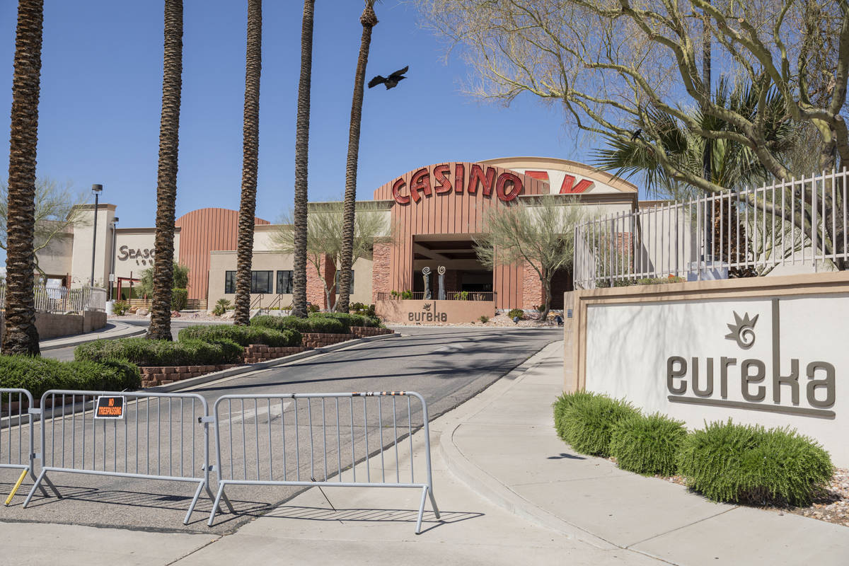 Eureka Casino Resort in Mesquite is seen closed on Tuesday, March 24, 2020. (Elizabeth Page Bru ...