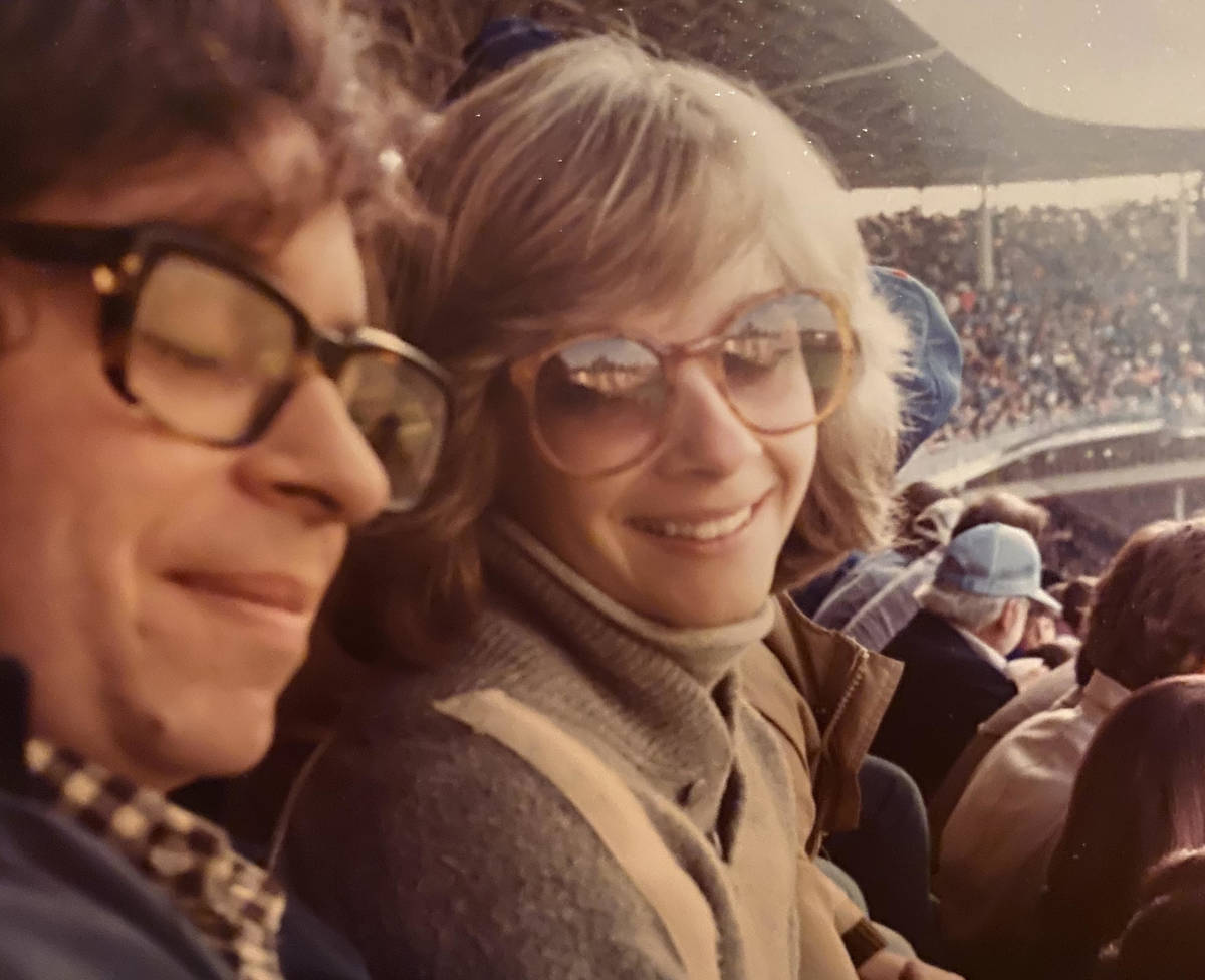 Daniel Scully and his sister Cissy Greenspan at a Chicago Cubs game in 1982. (Cissy Greenspan)