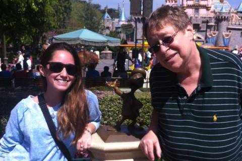 Daniel Scully with his niece Keri Greenspan at Disney World in 2013. (Cissy Greenspan)