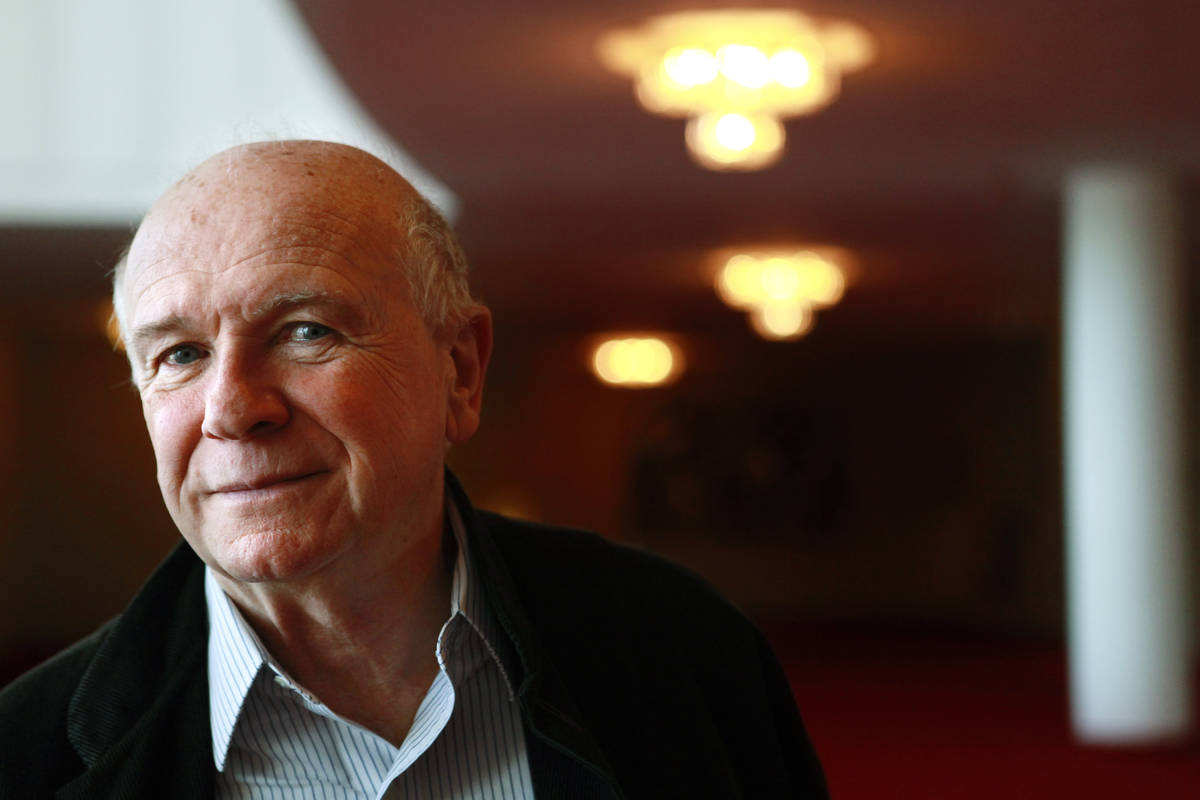 FILE - In this April 1, 2010, file photo, playwright Terrence McNally poses at the Kennedy Cent ...