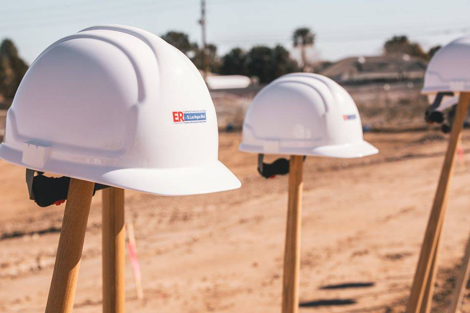 A groundbreaking ceremony for ER at S. Las Vegas Blvd. was held Feb. 21 on Giles Street in sout ...