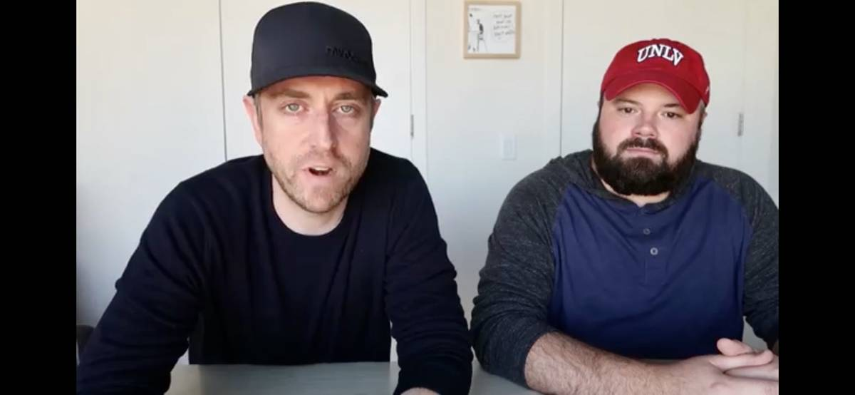 Professional poker players Andrew Neeme, left, and Benton Blakeman discuss poker hands on a You ...