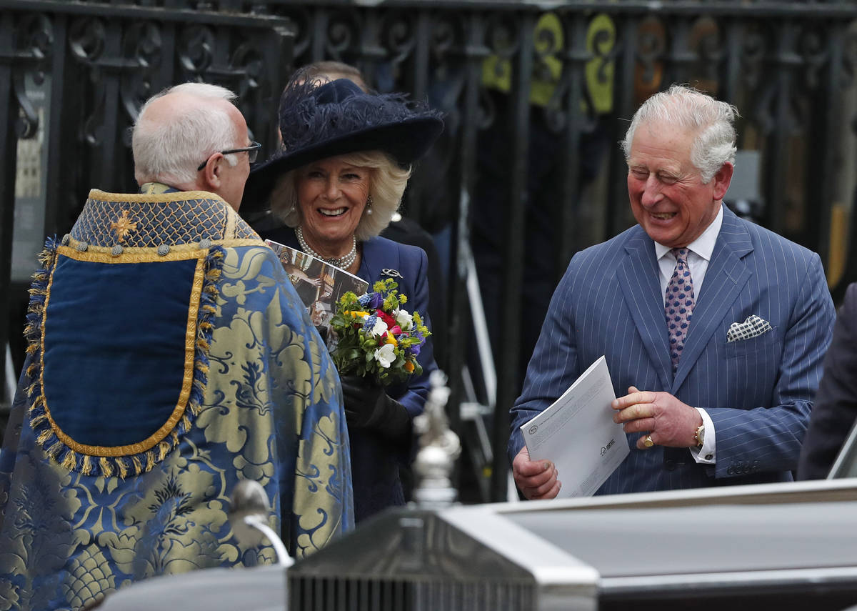 Britain's Prince Charles and Camilla, Duchess of Cornwall leave after attending the annual Comm ...