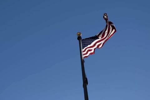 Gusting winds up to 50 mph will be felt across the Las Vegas Valley on Wednesday, March 25, 202 ...