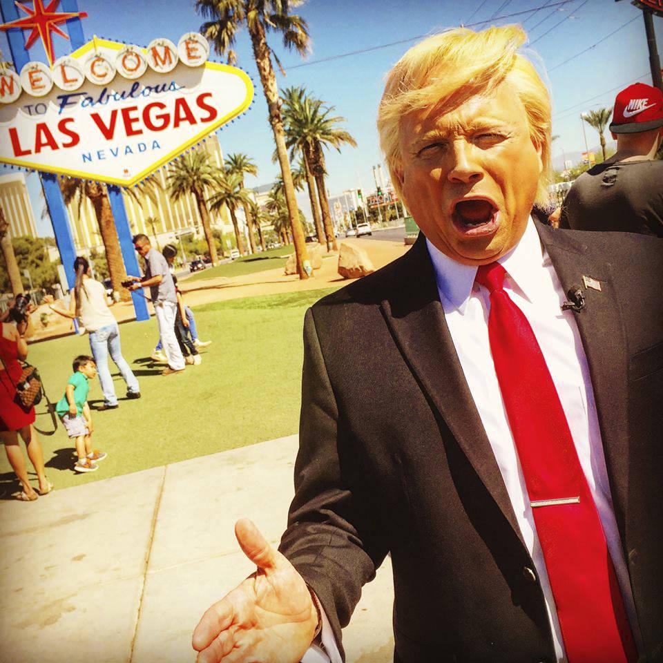 John Di Domenico as President Trump, doing it up, Vegas-style. (John Di Domenico)