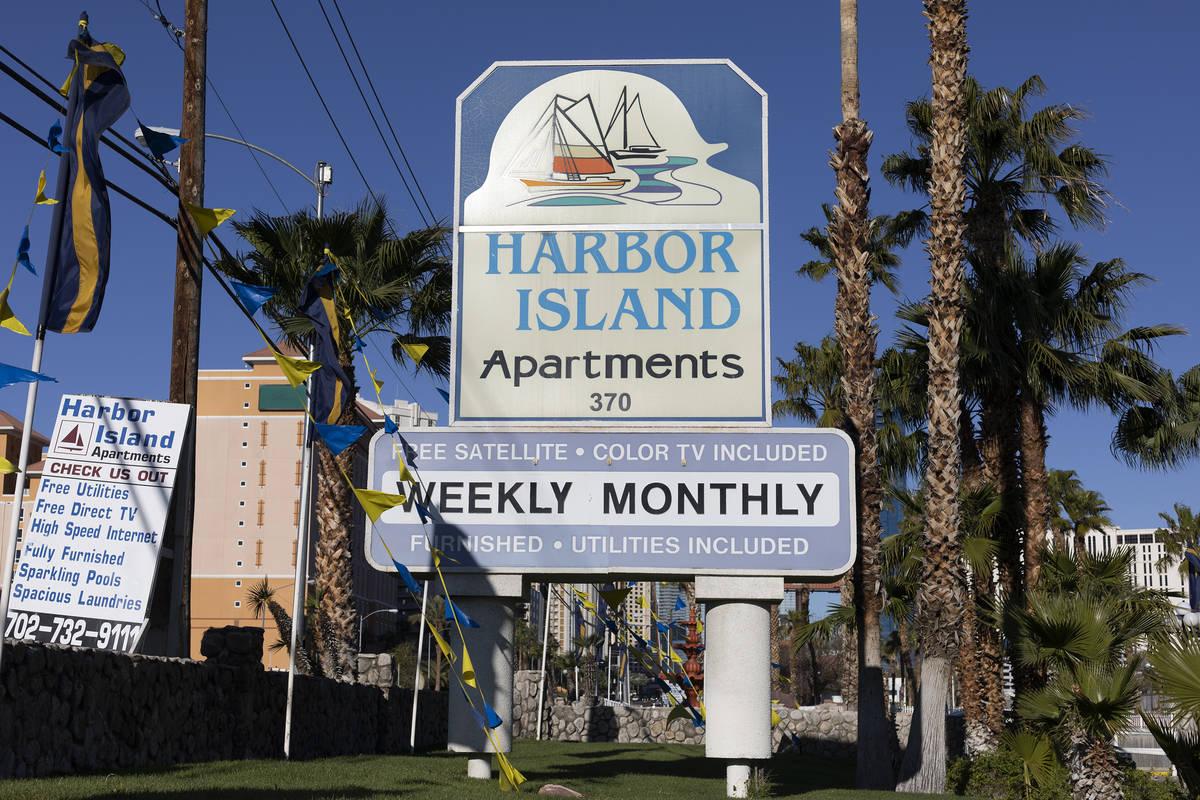 Harbor Island Apartments on Thursday, March 26, 2020, in Las Vegas. (Ellen Schmidt/Las Vegas Re ...