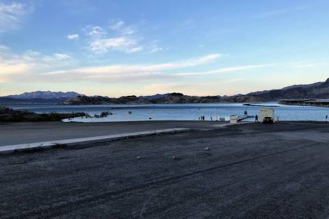 Hemenway Launch Ramp at Lake Mead is nearly vacant as COVID-19 related closures take effect, bu ...