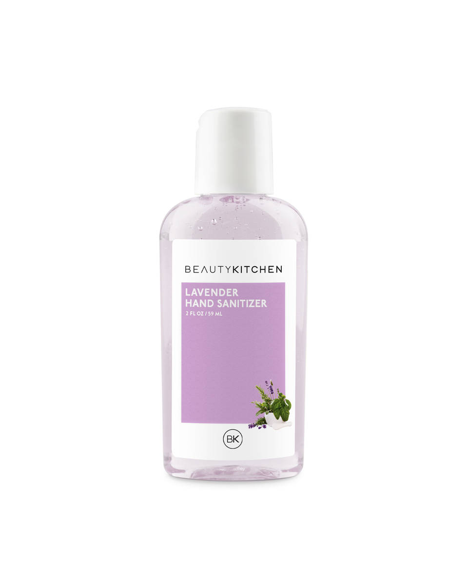 Beauty Kitchen Boutique's hand sanitizer in a lavender scent is shown. (Photo courtesy of Bea ...
