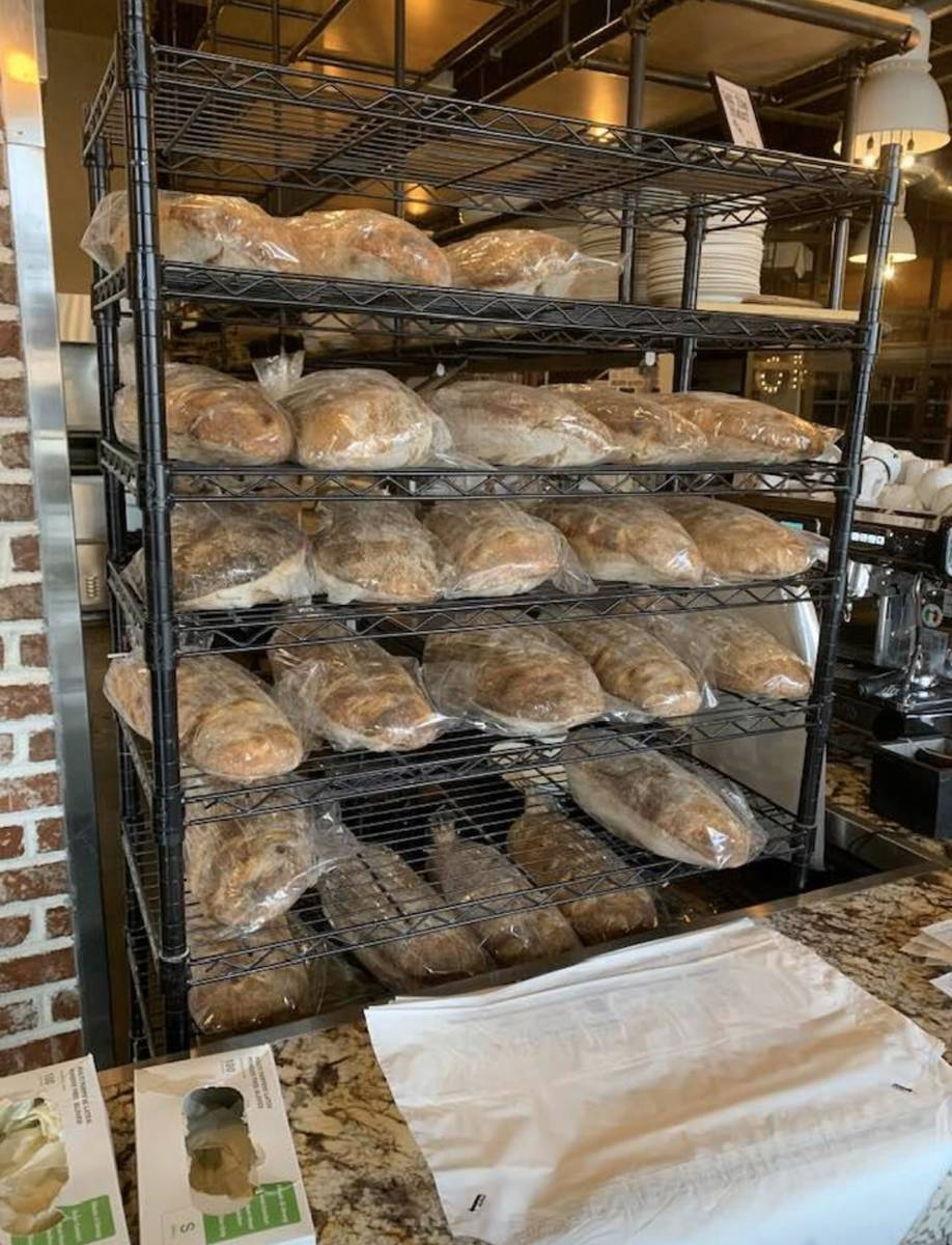 Gio and Naomi Mauro are baking more than 50 loaves of bread a day at Pizzeria Monzu. (Naomi Mauro)