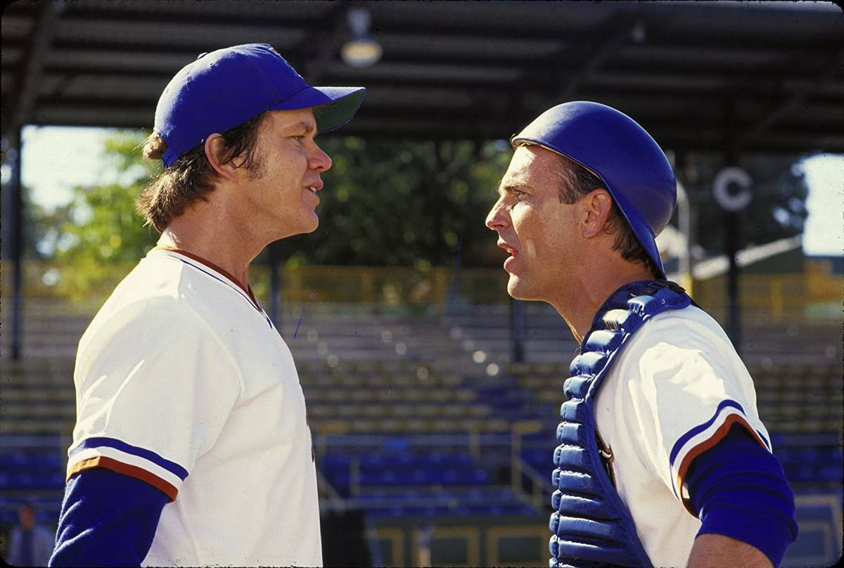 """Tim Robbins, left, and Kevin Costner star in """"Bull Durham."""" (MGM)"""