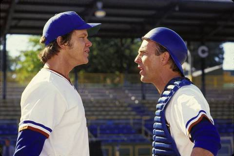 "Tim Robbins, left, and Kevin Costner star in ""Bull Durham."" (MGM)"