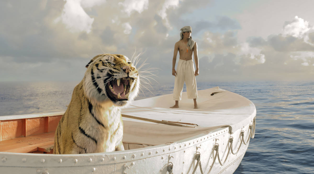 Pi Patel (Suraj Sharma) and a fierce Bengal tiger named Richard Parker must rely on each other ...