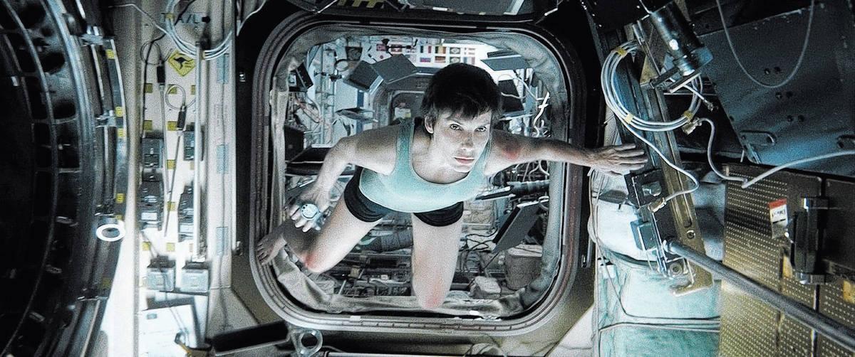 "Sandra Bullock as Ryan Stone in Warner Bros. Pictures' dramatic thriller ""Gravity,"" a ..."