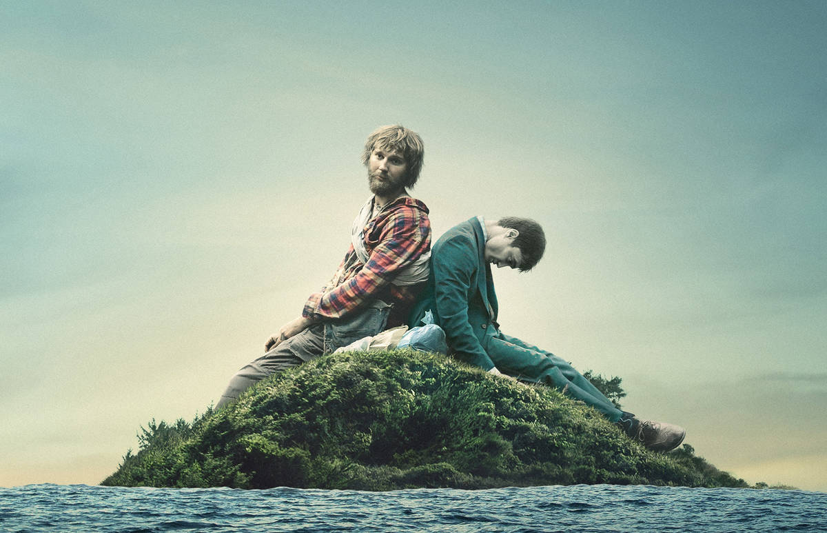 Paul Dano, left, and Daniel Radcliffe star in SWISS ARMY MAN. Photo courtesy of A24.
