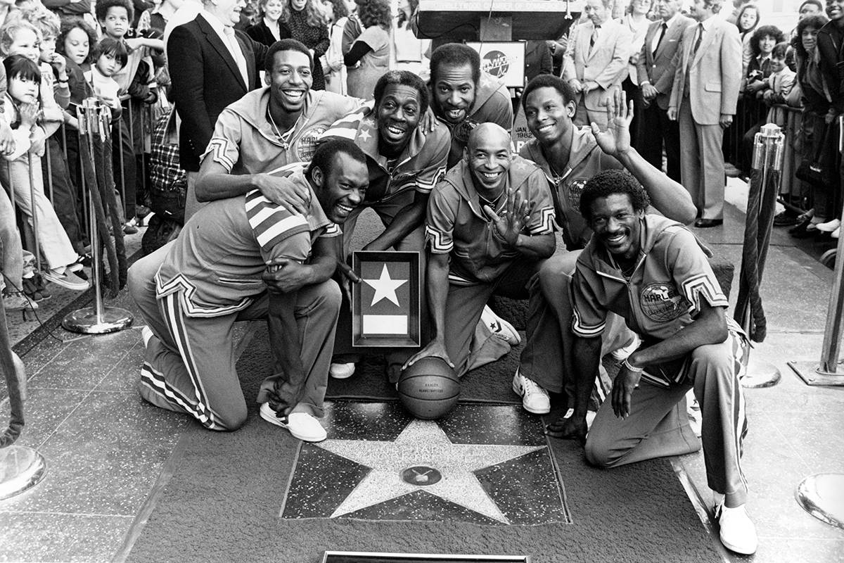 The Harlem Globetrotters are honored with a star in the Hollywood Walk of Fame, the 1,741st, on ...