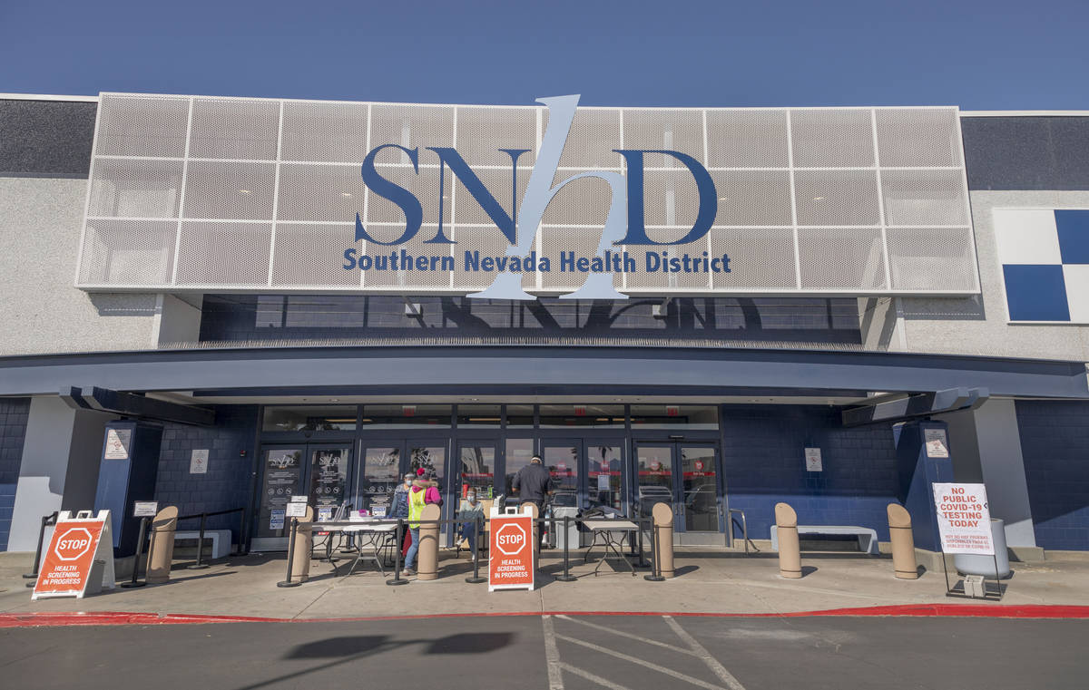 The Southern Nevada Health District is seen on Friday, March 27, 2020. (Elizabeth Page Brumley/ ...