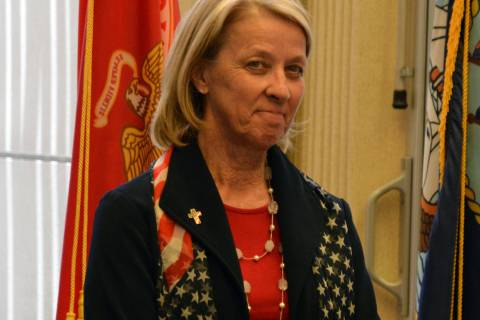 (Celia Shortt Goodyear/Boulder City Review) Nevada Secretary of State Barbara K. Cegavske prepa ...