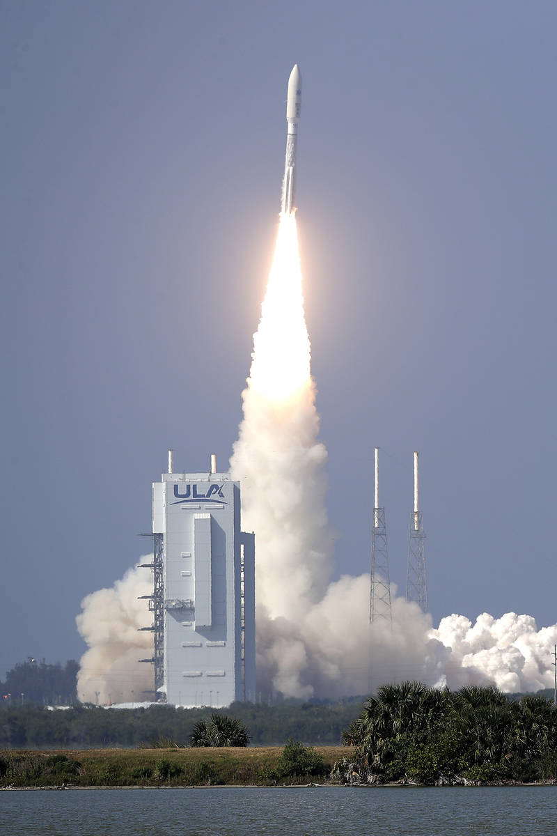 A United Launch Alliance Atlas V rocket lifts off from launch complex 41 at the Cape Canaveral ...