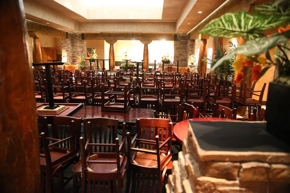 Inside the open Pampas Las Vegas restaurant in the Miracle Mile Shops in Las Vegas, Thursday, M ...