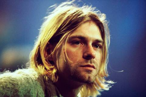 Kurt Cobain of Nirvana during the taping of MTV Unplugged at Sony Studios in New York City, 11/ ...
