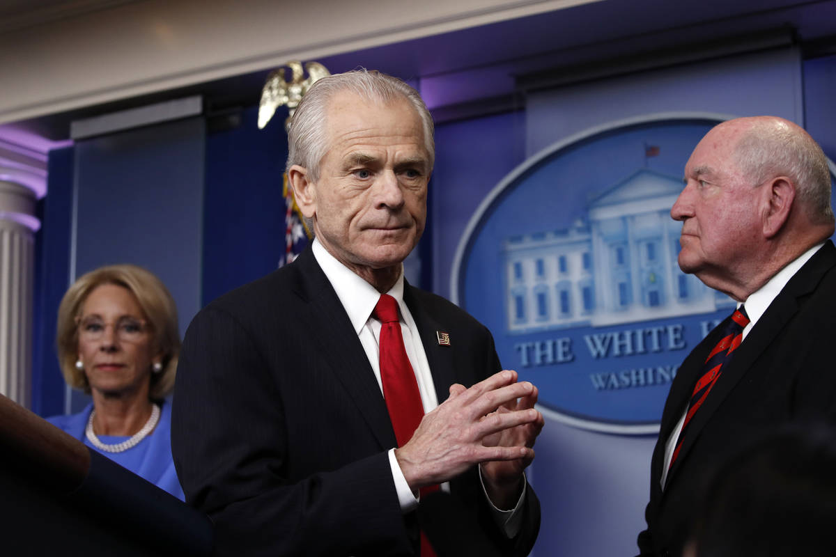White House trade adviser Peter Navarro, who will now serve as national defense production act ...